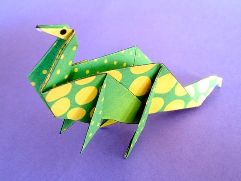 Brontosaure en origami