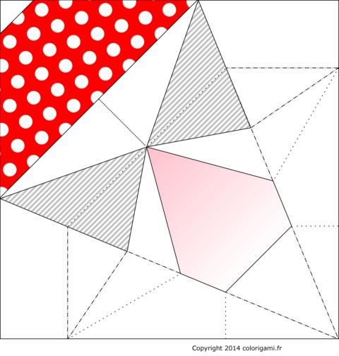 Modèle de champignon en origami - amanite tue mouche