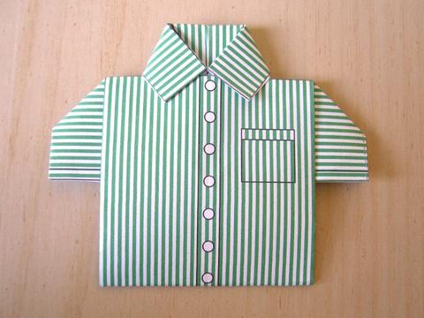 Chemisette à rayures vertes