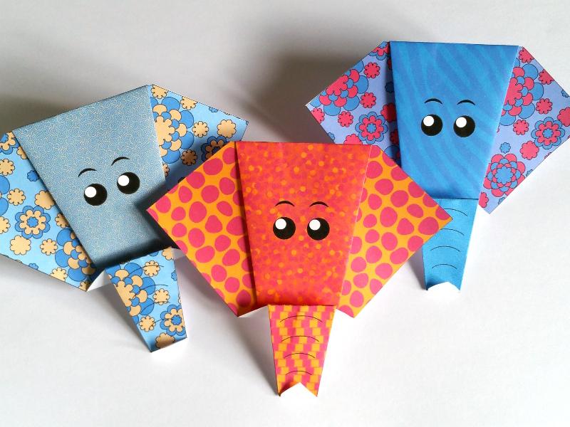 Tete D Elephant En Origami