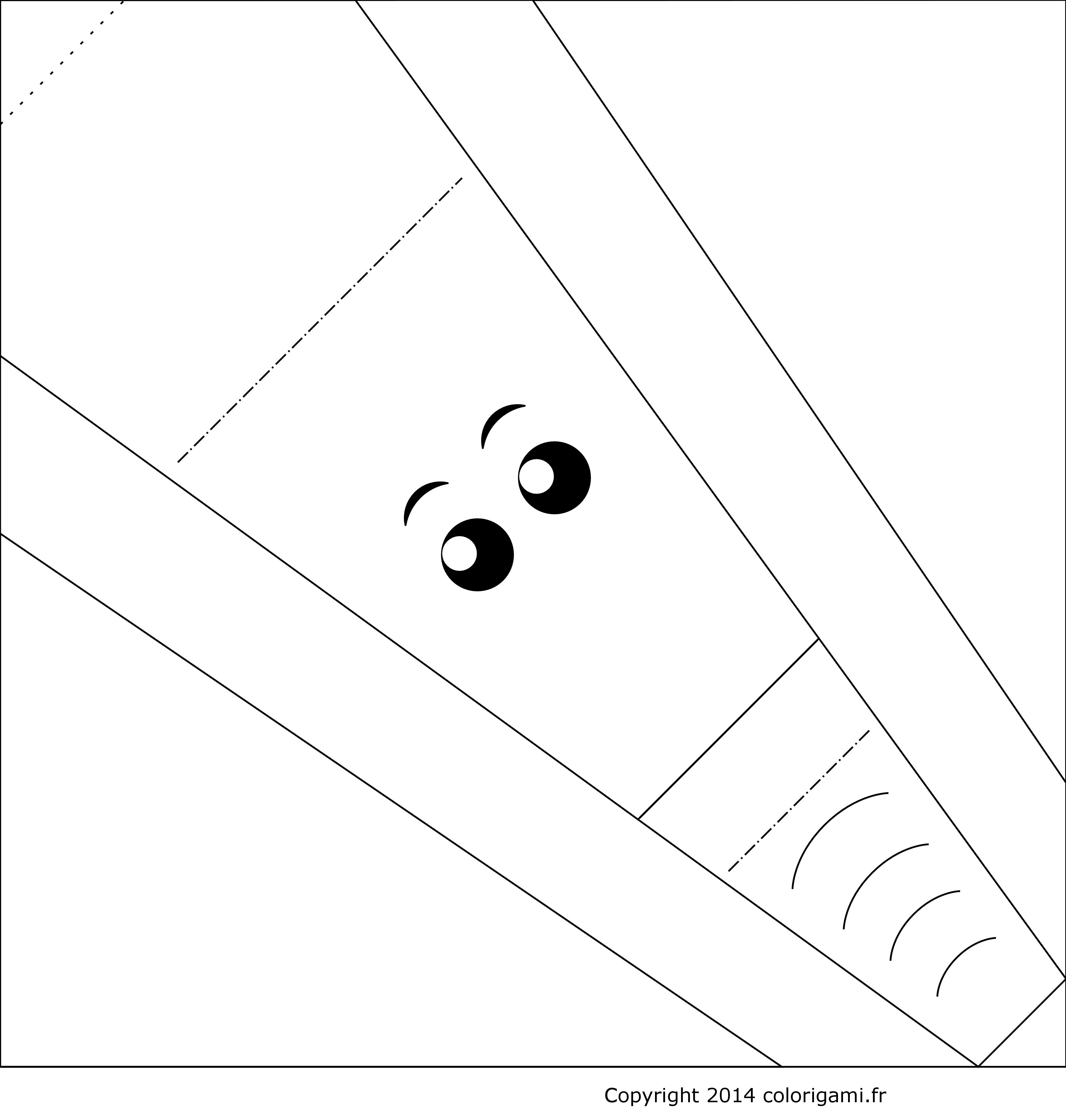 Tête D élephant En Origami