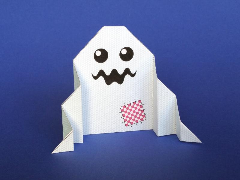 origami facile fantome
