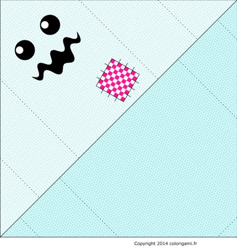 Modèle de monstre fantôme en origami