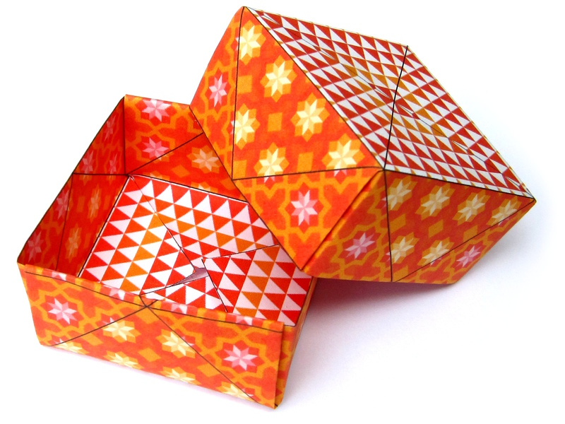 Bo te en origami - Boite cadeau origami facile ...