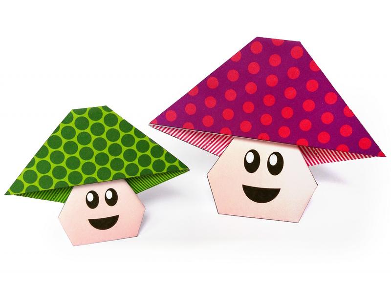 Bonhomme Champignon En Origami