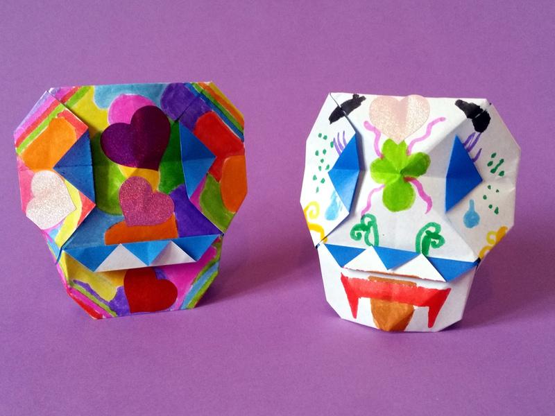 Des Calaveras Du Mexique En Origami à Plier Et Décorer