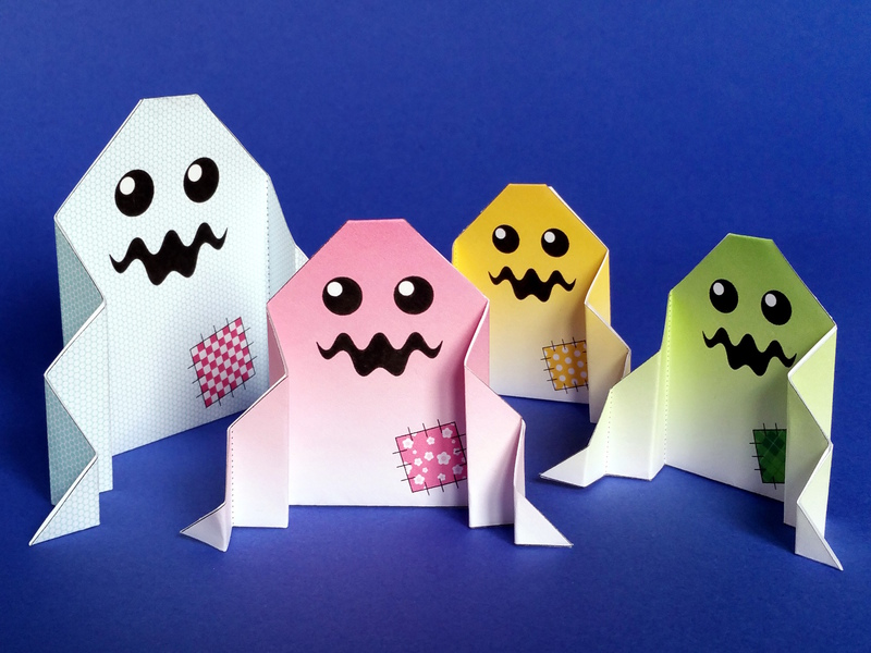 Monstre Fantôme Dhalloween En Origami