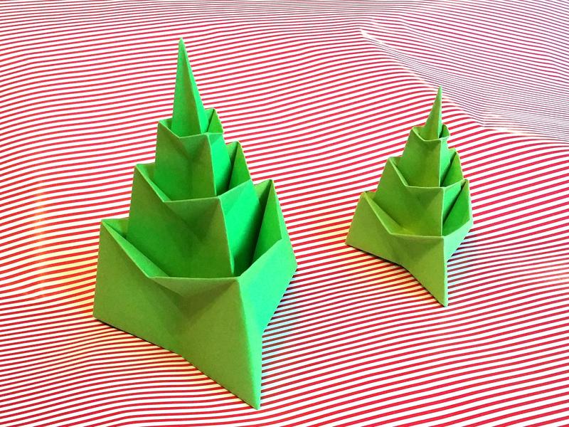 Un Sapin De Noël En Origami Et En 3d à Fabriquer à Partir Dune